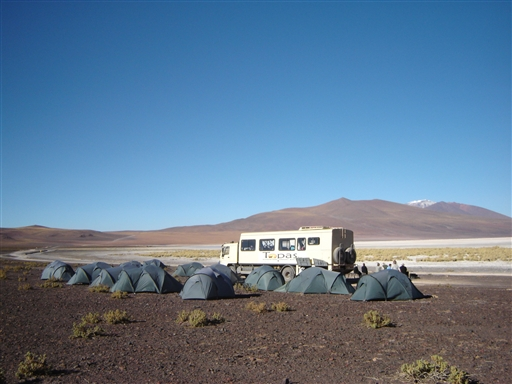Camp Vicuña, Ollagüe, Chile.
