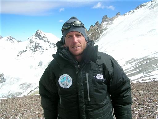 Jakob på træningsturen på Aconcagua til Cho Oyu Expeditionen