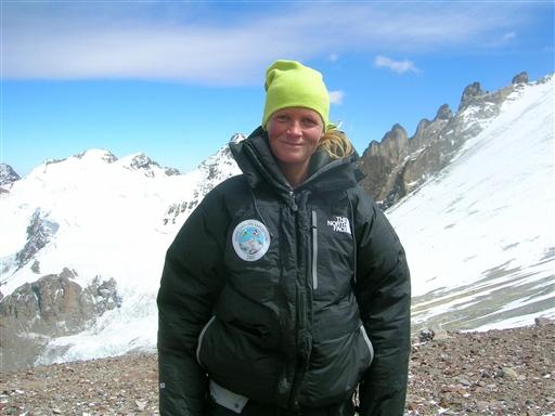 Mette på træningsturen på Aconcagua til Cho Oyu Expeditionen