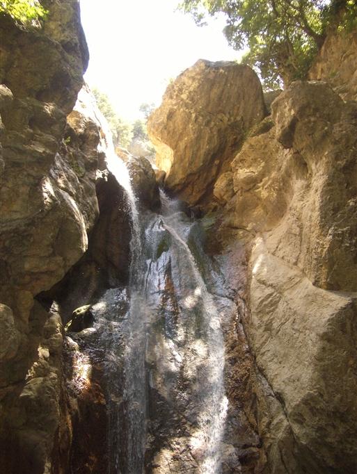 Foto: Anne Sophie Hillemann. Øverste del af vandfaldet.