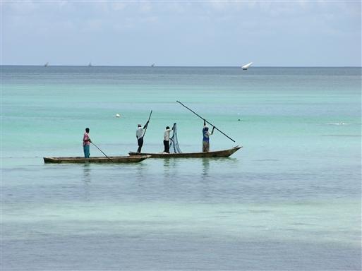 Fiskere i det tyrkisbl� hav