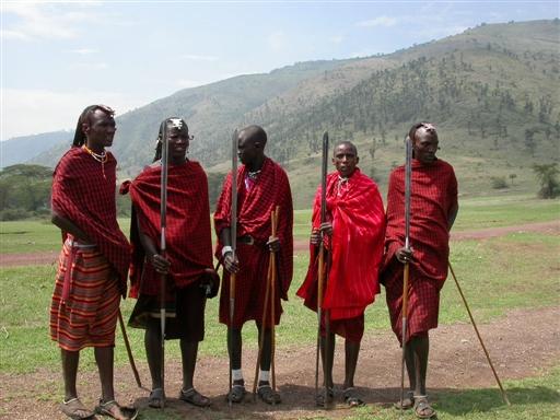 Masaier i Ngorongoro