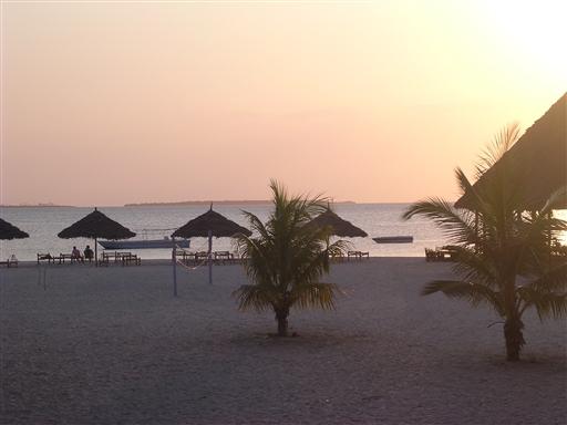 Solnedgang på Kendwa beach