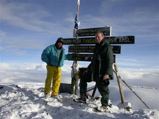 Uhuru Peak, Tanzanias højeste punkt, 5895 moh