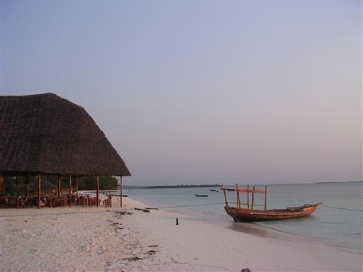 Vores strand, Kendwa beach på Zanzibar