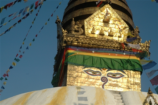 Buddhas øjne ser alt - Swayambhunath stupaen