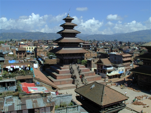 Durbar Square i den gamle kongeby Bhaktapur er et besøg værd
