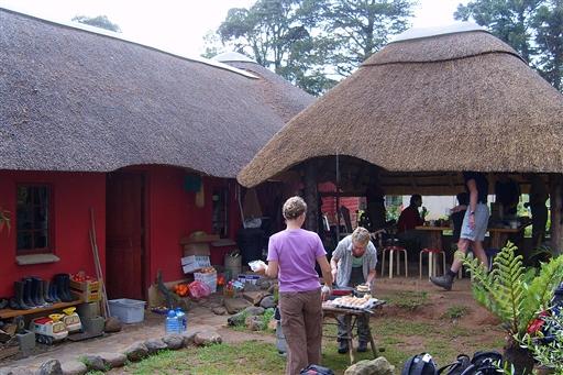 Bergvlei Farm ved foden af Drakensberg