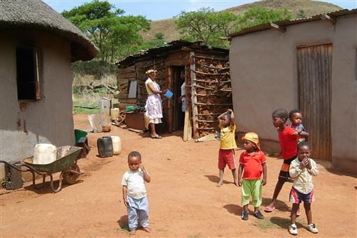 Man møder masser af børn i det sydlige Afrika