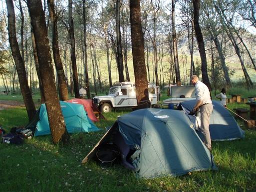 Camp i Hlane Game Park - Swaziland