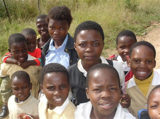 Man får mange smil i det sydlige Afrika
