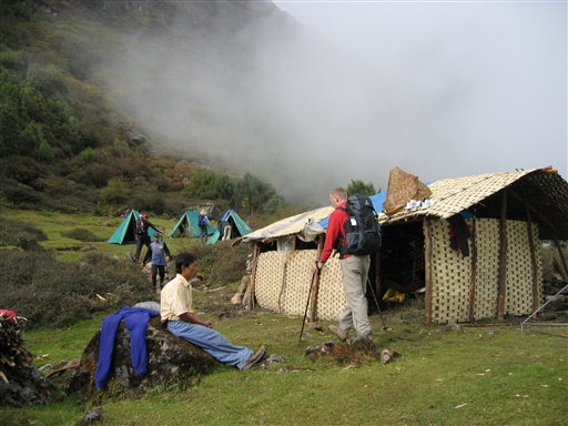 Fremme ved dagens lejrplads