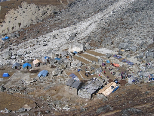 Mera Peak base camp ved Khare i ca. 5.000 m