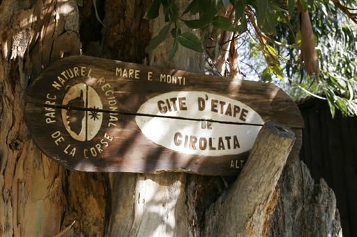 Afmærkning af vandrerute - korsika