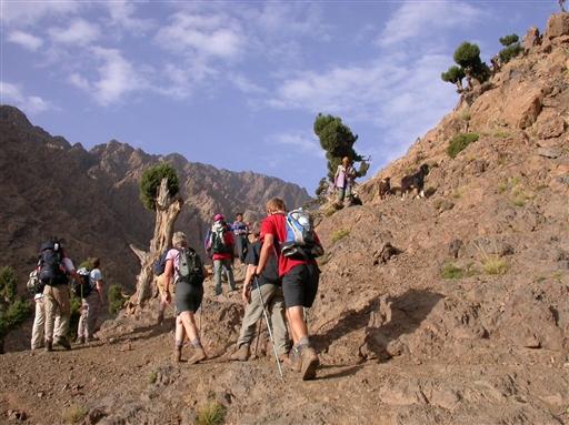 Mod passet Tizi n´Tacheddirt - Marokko