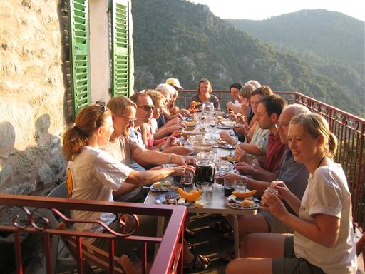 Aftensmad og solnedgang på korsika - Frankrig