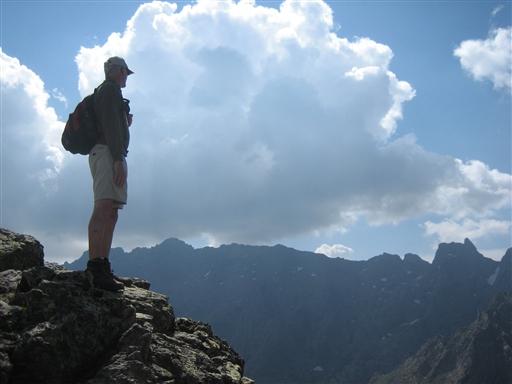 Udsigt til Monte Cinto på Korsika - Frankrig