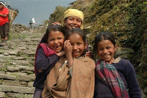 Man har let til smil i bjergene - Nepal