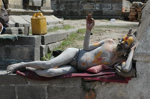 Saddhu, hellig hinduistisk mand - Nepal
