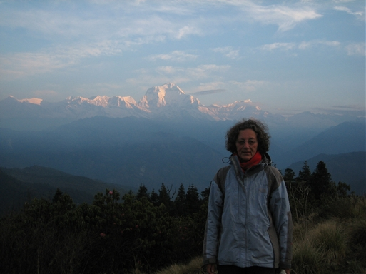 Dhaulagiri i morgenlyset, set fra Poon Hill
