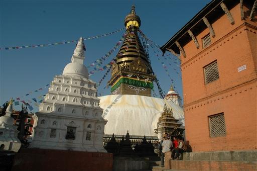 Den buddistiske helligdom Swayambonath i udkanten af Kathmandu