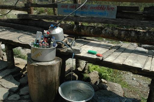 Lokalt køleskab - her kan der købes kolde drikkevarer