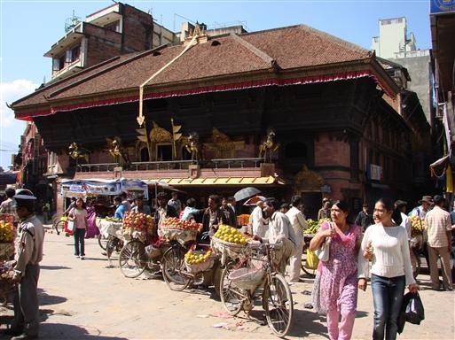 Gadehandel på Durbar Square