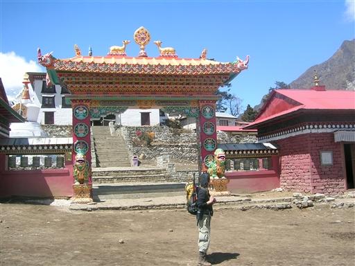Det store buddhistiske tempel i Thyangboche