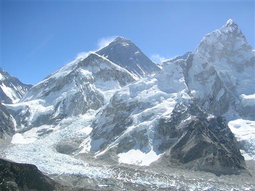 Ubeskrivelig udsigt... panorama mod verdens højeste bjerg Mt. Everest 8850 m