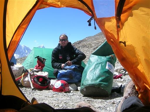Klargøring inden afgang til High camp i 5700 m