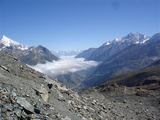 Gabelhorn højt hævet over Zermatt