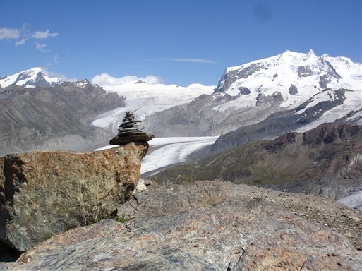 Gorner Gletcher med Dufourspitze i baggrunden