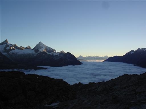 Zermatt under skyerne