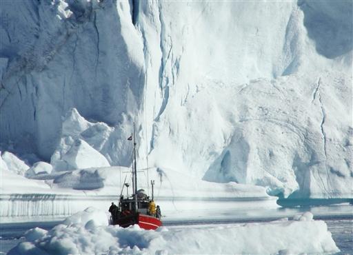 Enorme isbjerge med en isfront der står mere end 110 meter over havoverfladen er ikke unormalt.