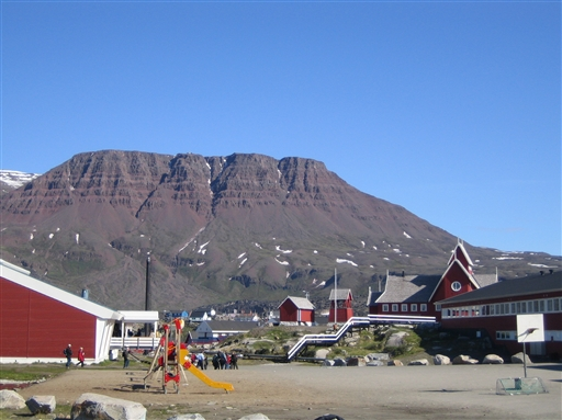 De specielle basaltfjelde på Diskoøen - et særpræget sted i forhold til det øvrige Grønland.