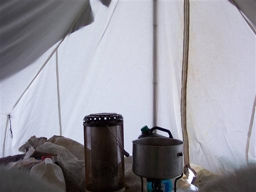 Primussen snurrer – om lidt er kaffen klar…
