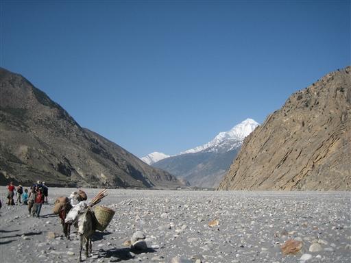 Kali Gandaki kløften nord for Jomson