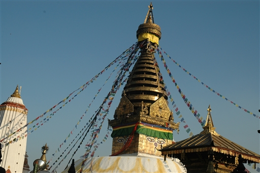 Kathmandu - Swayambhunath stupaen findes på en lille høj i udkanten af Kathmandu