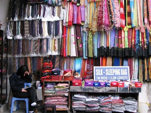 En bod i silkegaden i Hanoi