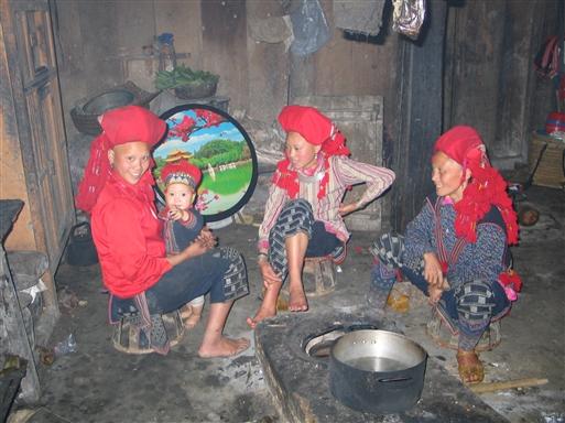 Hjemme hos en Red Dao familie