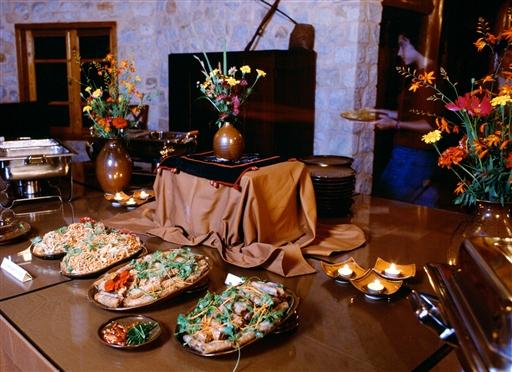 Aftensmad på Topas Ecolodge