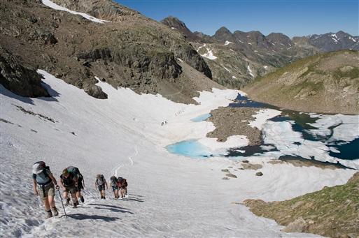 Opstigning til Col de la Fache, 2664 moh.