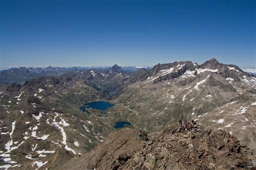 Udsigten fra Grand Fache, 3005 moh.