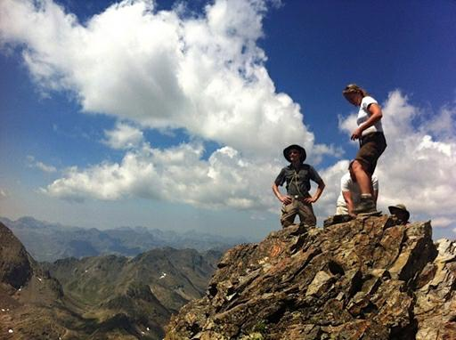 På toppen af Grand Fache 3.005m