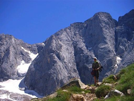 Det gletsjerklædte bjergmassiv Vignemal