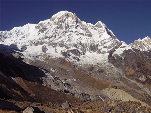 Annapurna set fra Basecamp