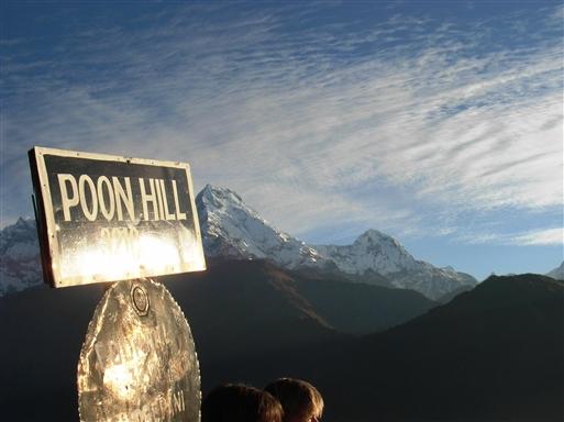 Udsigt til Annapurnamassivet fra Poon Hill