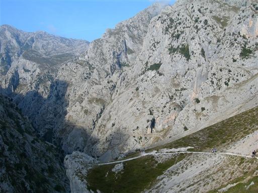 Cargante del Cares (Cares Kløften) mellem Poncebos og landsbyen Cain er en af Spaniens klassiske vandreture.