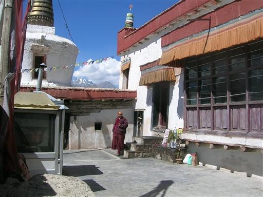 Tibetansk kloster. Området omkring Leh kaldes