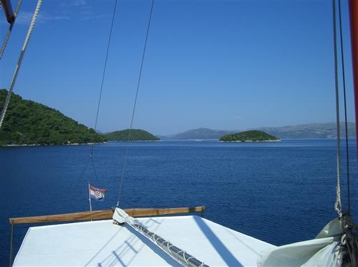 På vej mod øen Brac